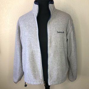 Timberland Men's Zip Fleece Grey Medium